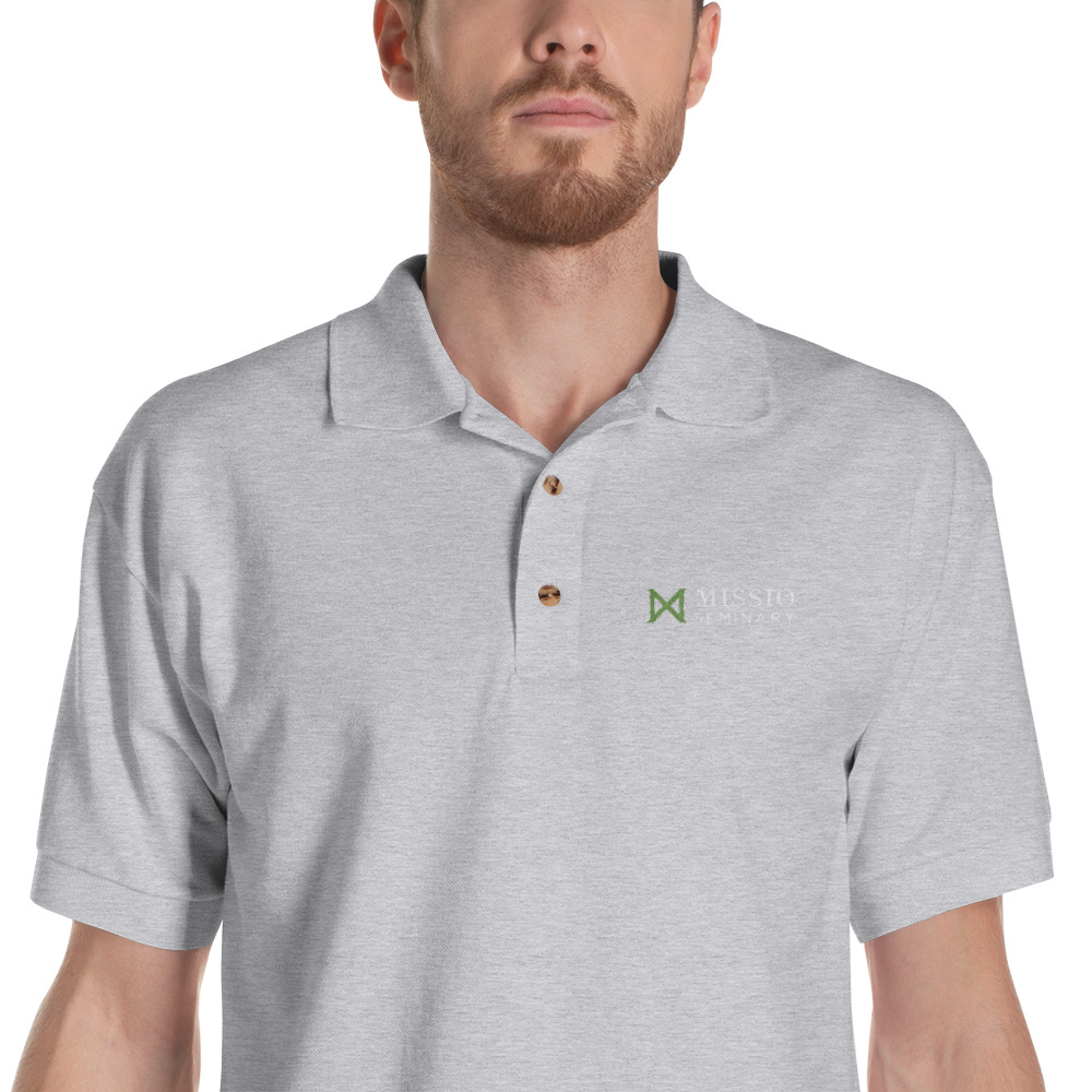 Missio Horizontal Logo Embroidered Polo Shirt Missio Seminary